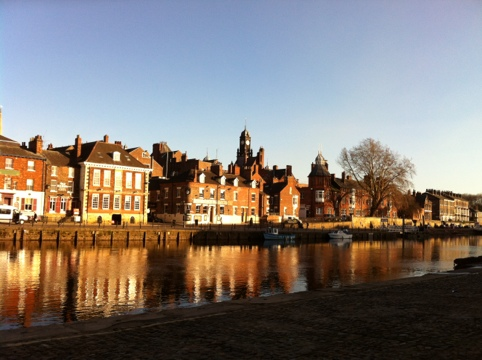 York - the view over the River Ouse from outside my hotel