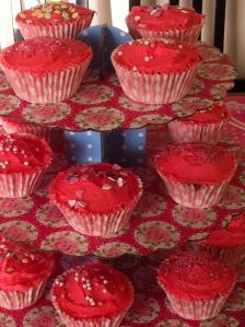 Very Pink Vanilla Cupcakes