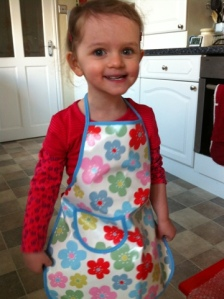 The daughter in her apron