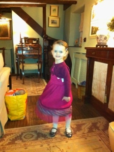 The Daughter in her party dress
