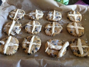 Making Hot Cross Scones