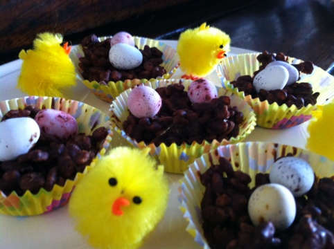 Rice Crispie Easter Nests