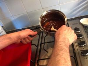 Making Chocolate Brownies