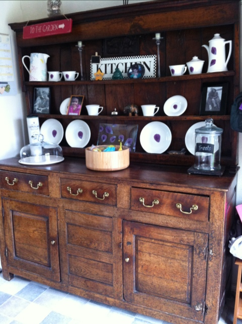 These Days The Dresser Lives In My New Dining Room I Decorate It For Seasons Use To Display Cards And Artwork Keep Cake Glass Dome On