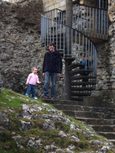 The staircase at Peveril Castle