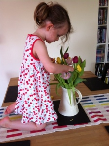 Stripping the tulips