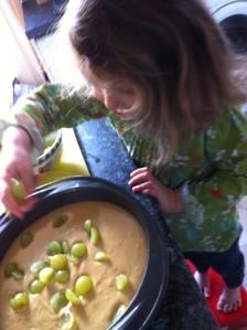 Making Grape Cake
