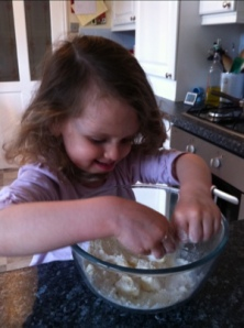 Making Apple Crumble Cake