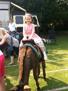 Donkey Ride at the Summer Fete