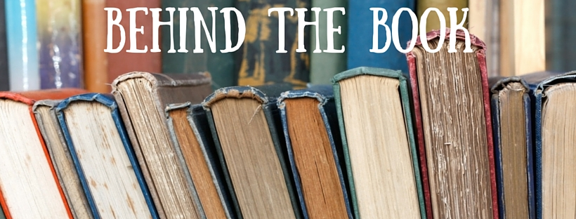 Behind the book blog header